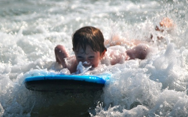 davin on the boogie board