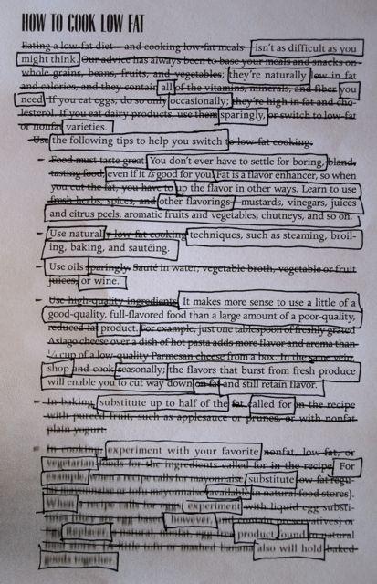 Found poem assignment